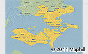 Savanna Style 3D Map of Storstrom