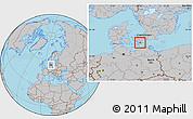Gray Location Map of Langebak