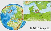 Physical Location Map of Langebak