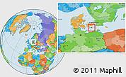 Political Location Map of Langebak, highlighted parent region
