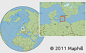 Savanna Style Location Map of Langebak