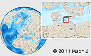 Shaded Relief Location Map of Langebak