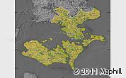 Satellite Map of Storstrom, desaturated