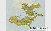 Satellite Map of Storstrom, lighten