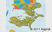 Satellite Map of Storstrom, political outside