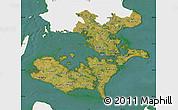 Satellite Map of Storstrom, single color outside