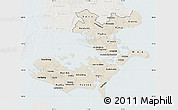 Shaded Relief Map of Storstrom, lighten