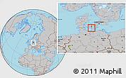 Gray Location Map of Nakskov