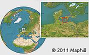 Satellite Location Map of Nakskov