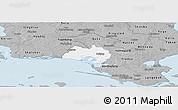 Gray Panoramic Map of Nastved