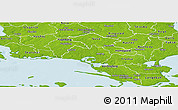 Physical Panoramic Map of Nastved