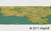 Satellite Panoramic Map of Nastved