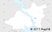 Silver Style Simple Map of Nykobing Falster