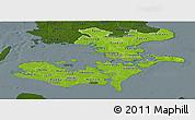 Physical Panoramic Map of Storstrom, darken
