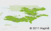 Physical Panoramic Map of Storstrom, lighten
