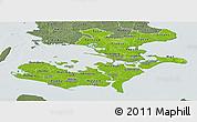 Physical Panoramic Map of Storstrom, semi-desaturated