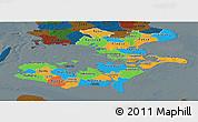 Political Panoramic Map of Storstrom, darken