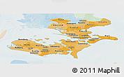 Political Shades Panoramic Map of Storstrom, lighten