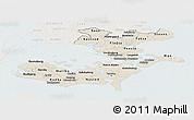 Shaded Relief Panoramic Map of Storstrom, lighten