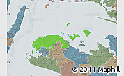 Political Map of Ravnsborg, semi-desaturated