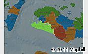Political Map of Rudbjerg, darken