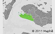 Political Map of Rudbjerg, desaturated