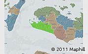 Political Map of Rudbjerg, semi-desaturated