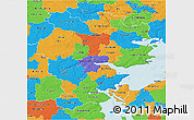 Political 3D Map of Vejle