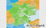 Political Shades 3D Map of Vejle