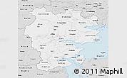 Silver Style 3D Map of Vejle