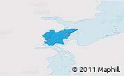 Political 3D Map of Fredericia, single color outside