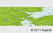Physical Panoramic Map of Fredericia