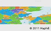 Political Panoramic Map of Fredericia