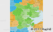 Political Shades Map of Vejle