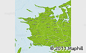 Physical 3D Map of Vestsjalland