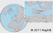 Gray Location Map of Gorlev