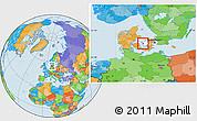 Political Location Map of Gorlev, highlighted parent region