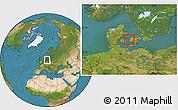 Satellite Location Map of Gorlev