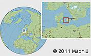 Savanna Style Location Map of Gorlev