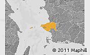 Political Map of Korsor, desaturated