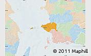 Political Map of Korsor, lighten