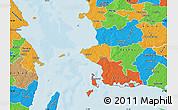 Political Map of Korsor