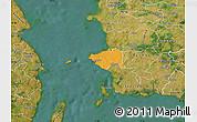 Political Map of Korsor, satellite outside