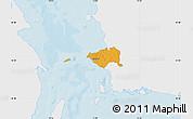 Political Map of Korsor, single color outside