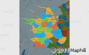 Political Map of Vestsjalland, darken