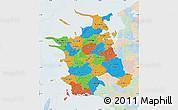 Political Map of Vestsjalland, lighten