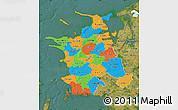 Political Map of Vestsjalland, satellite outside