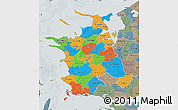 Political Map of Vestsjalland, semi-desaturated