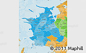 Political Shades Map of Vestsjalland
