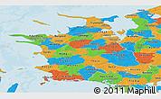 Political Panoramic Map of Vestsjalland